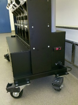 The cooling unit housed at the base of the Chiller System